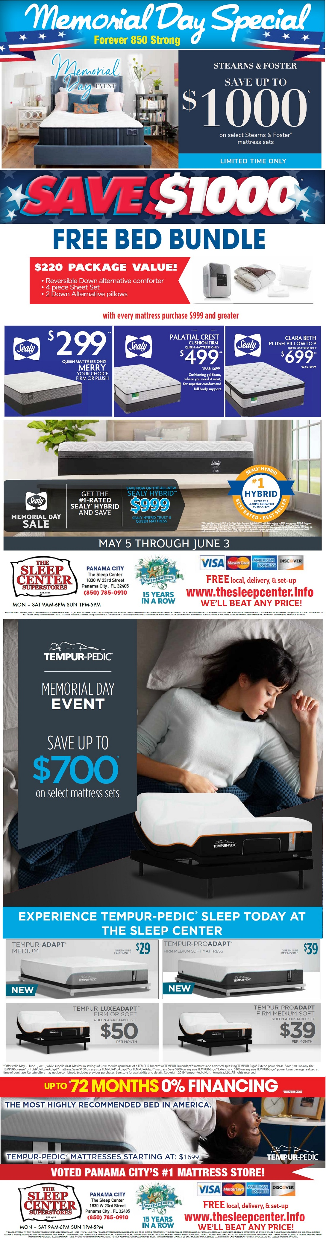Panama City Mattress Sale Memorial Day 2019
